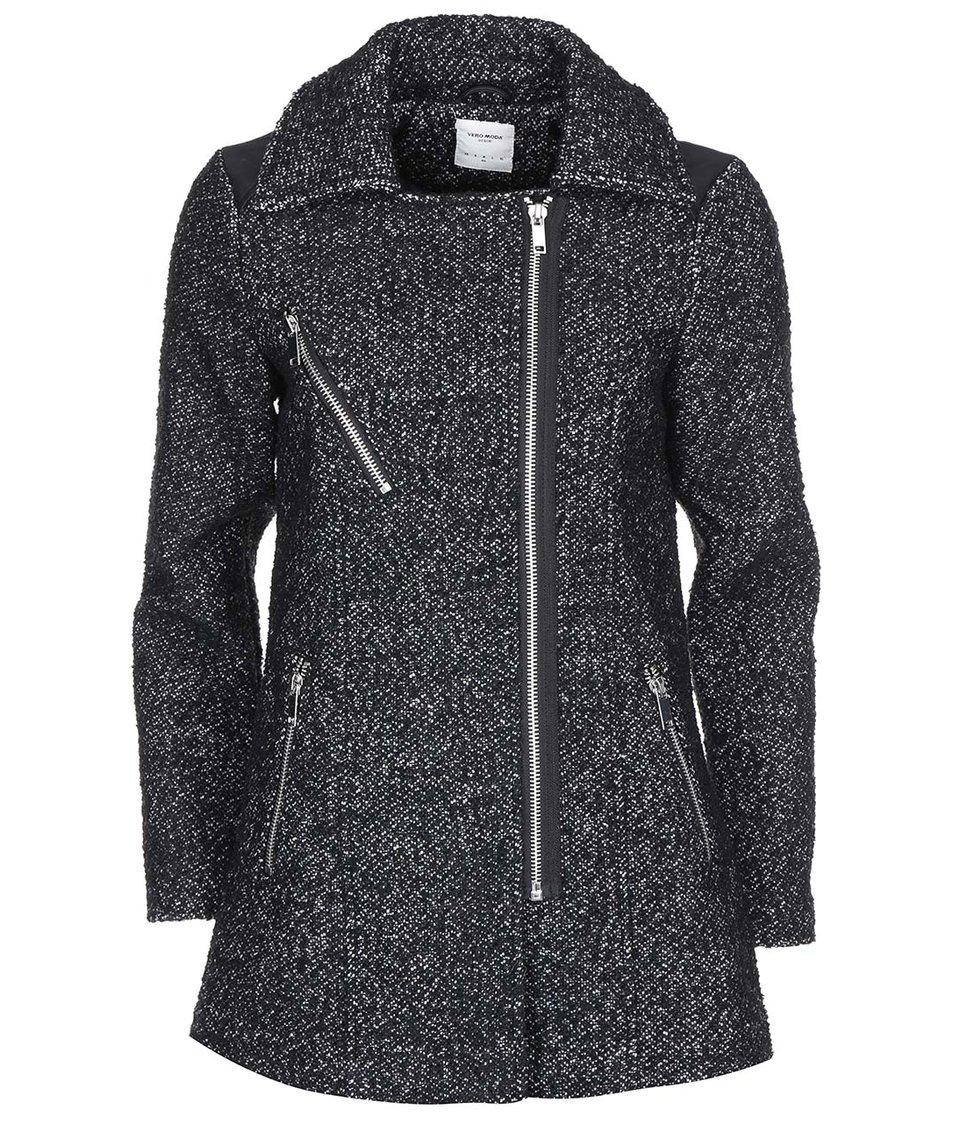 Bílo-černý kabát Vero Moda Taken