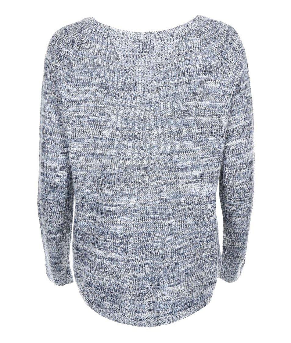 Modrý žíhaný svetr s kulatým výstřihem Vero Moda Tango