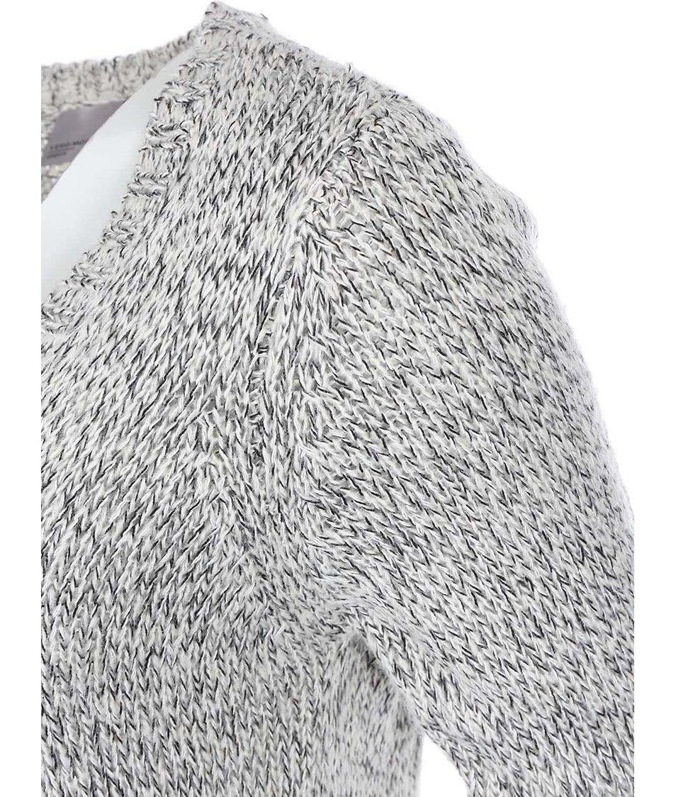Světle šedý žíhaný cardigan s kapsami Vero Moda Tango