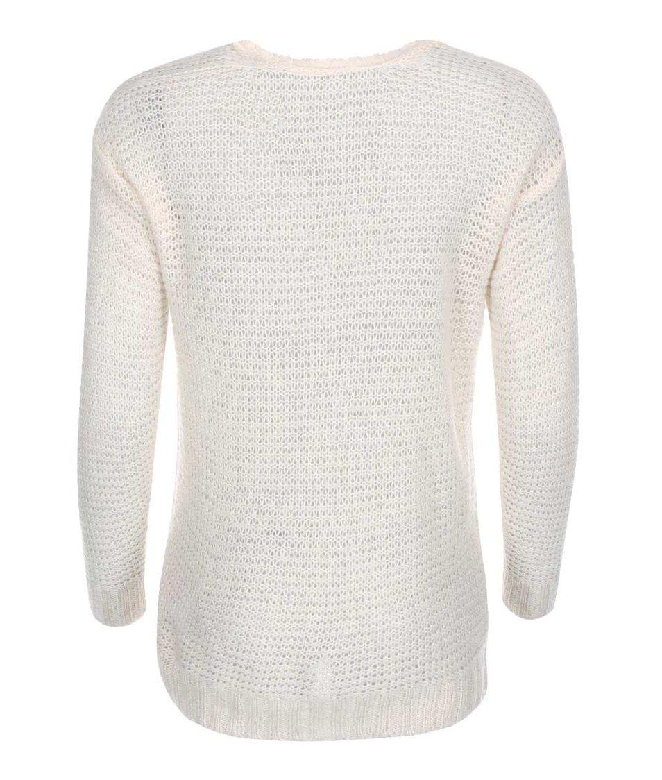 Krémový svetr s véčkovým výstřihem Vero Moda Celeste