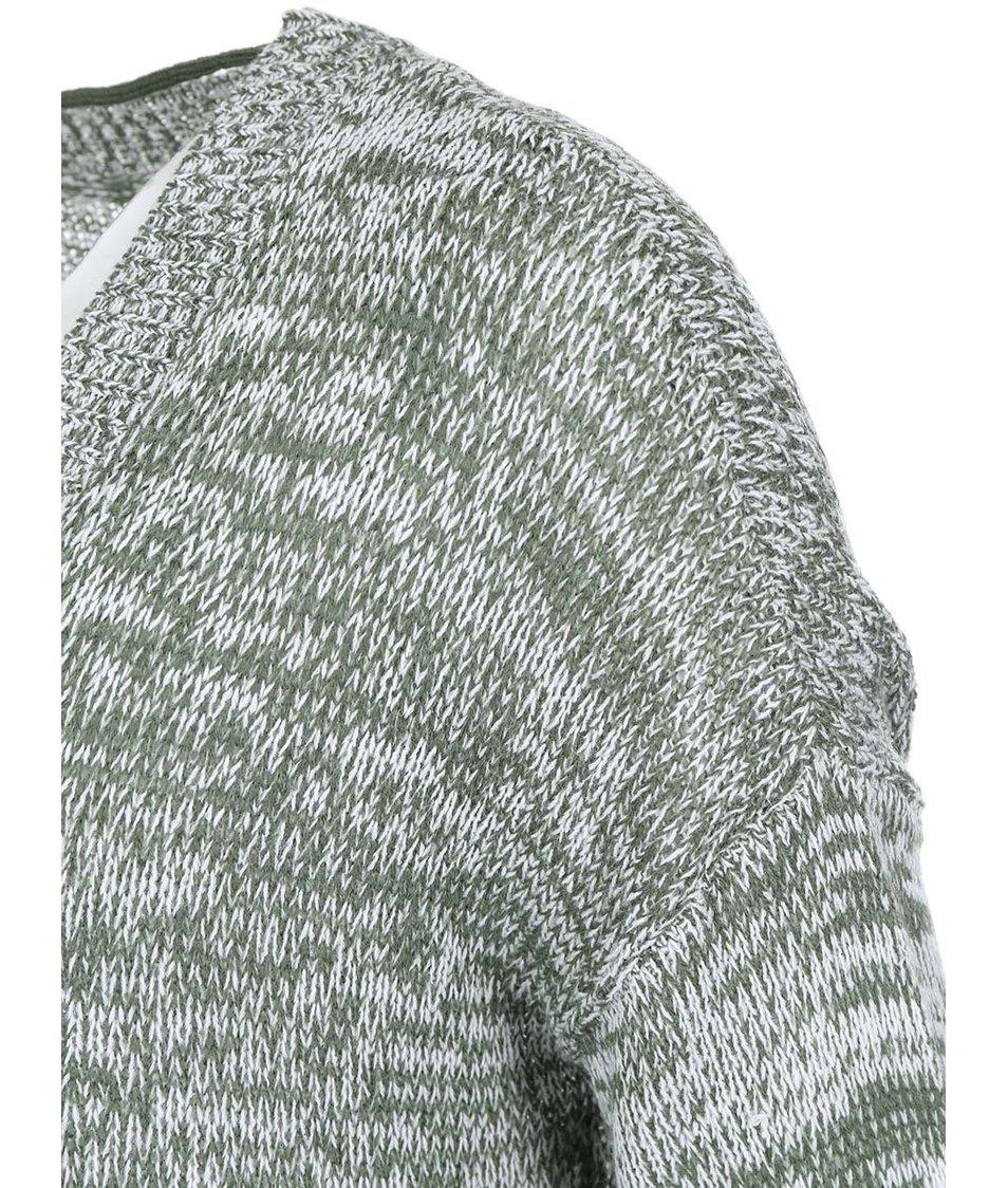 Bílo-zelený cardigan Vero Moda Joelle