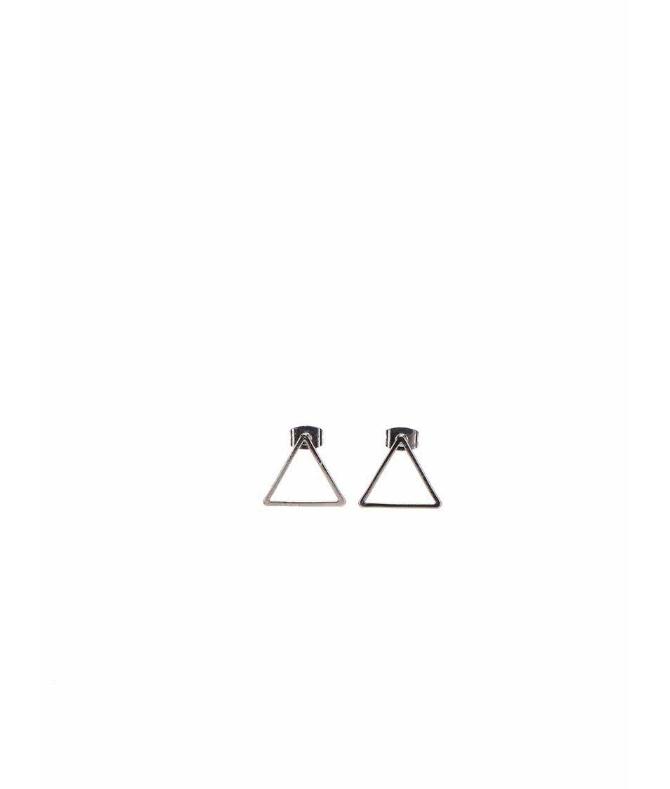 Trojúhelníkové náušnice ve stříbrné barvě Vero Moda Sinne
