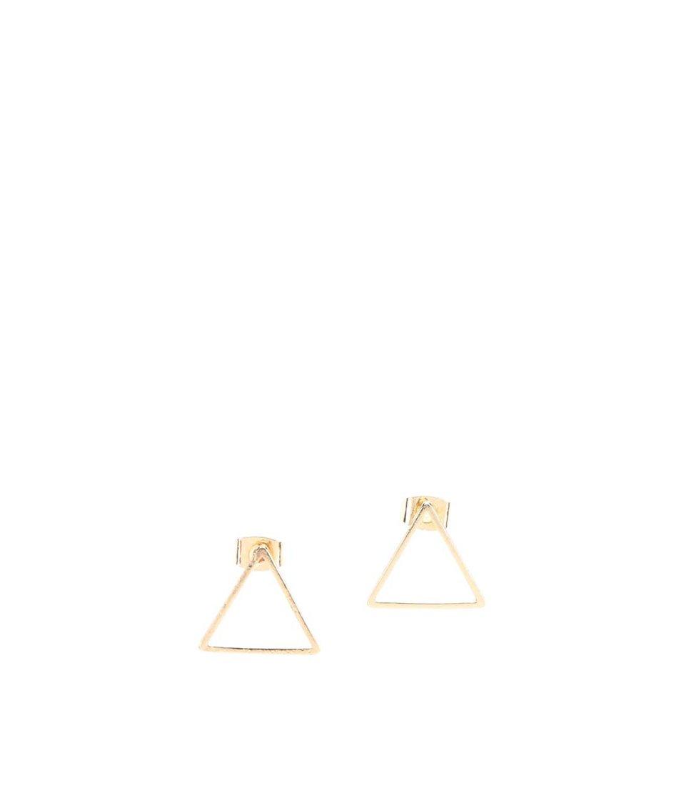 Trojúhelníkové náušnice ve zlaté barvě Vero Moda Sinne