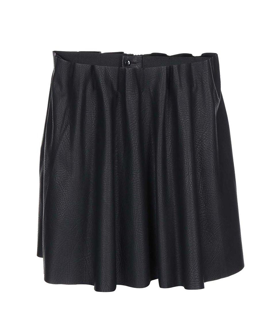 Černá koženková sukně Vero Moda Louise