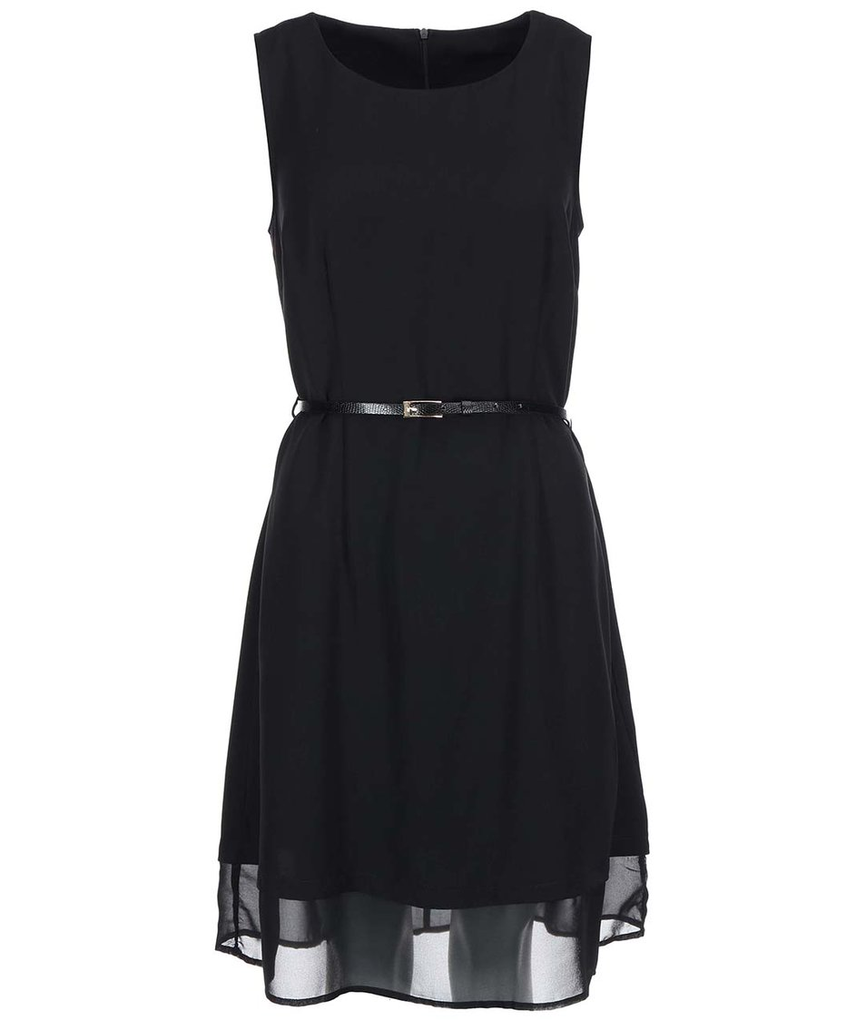 Černé šaty s páskem Vero Moda Ida