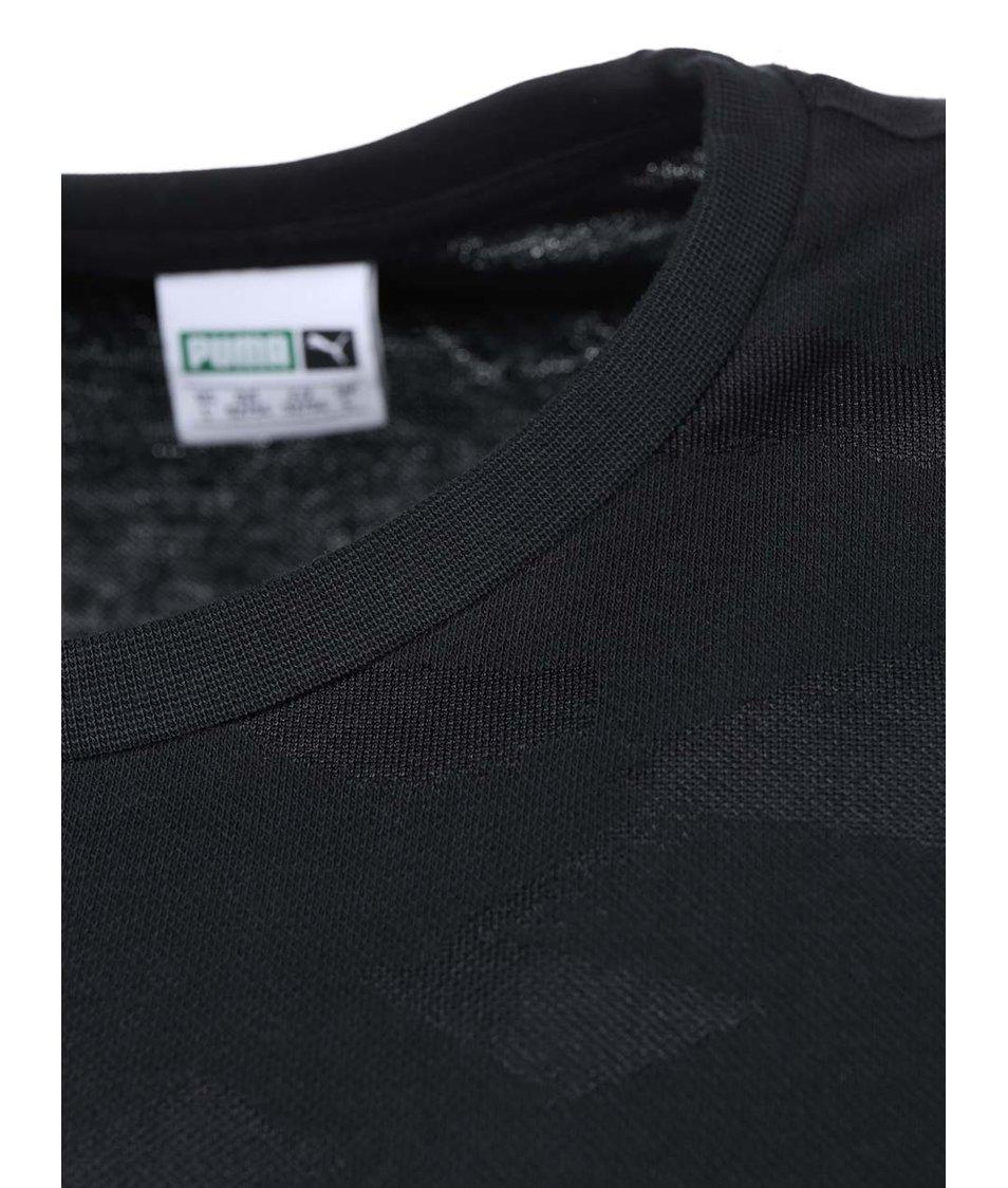 Černé pánské vzorované triko Puma Aop Tee