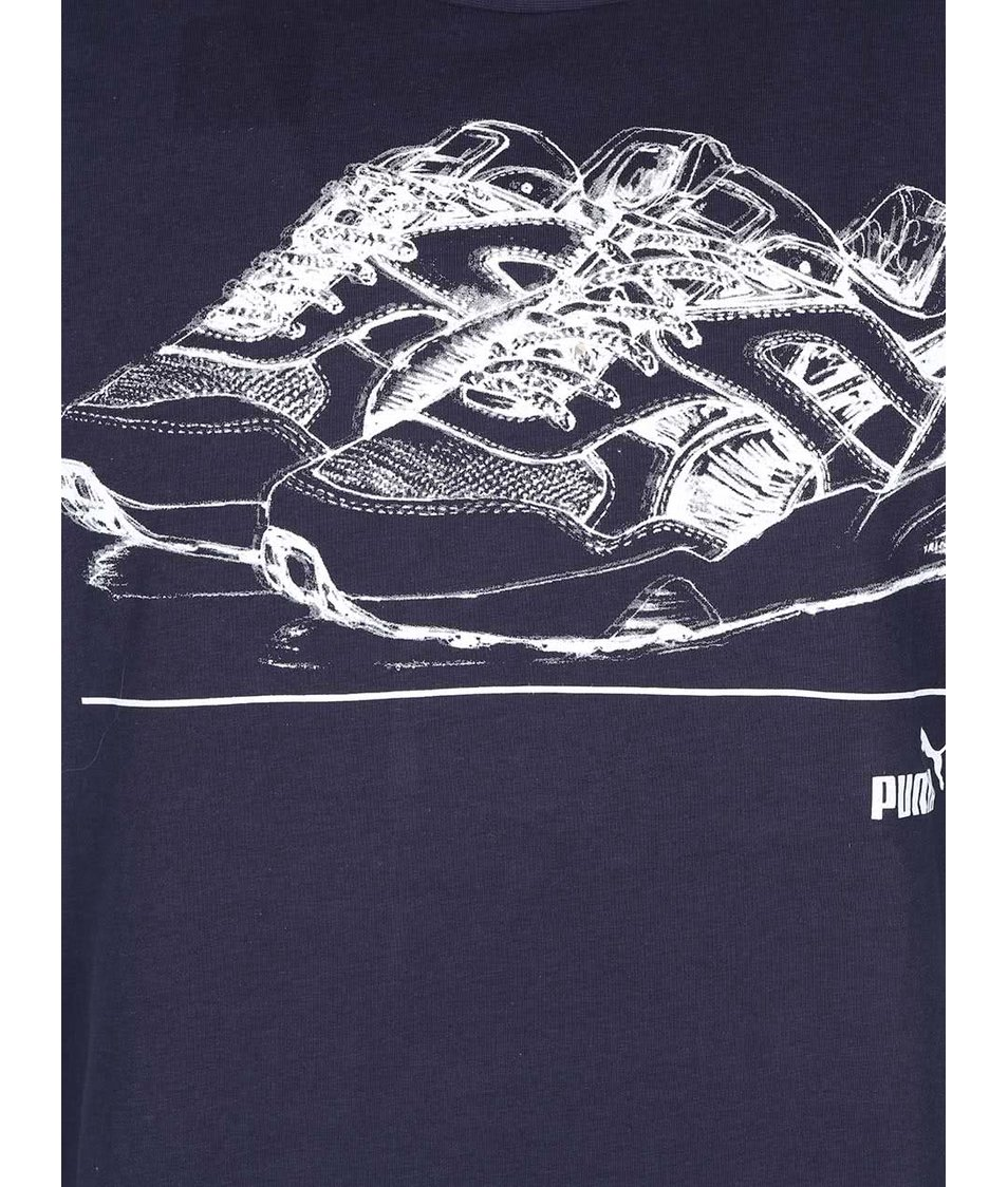 Tmavě modré pánské triko Puma Handdrawn Tee