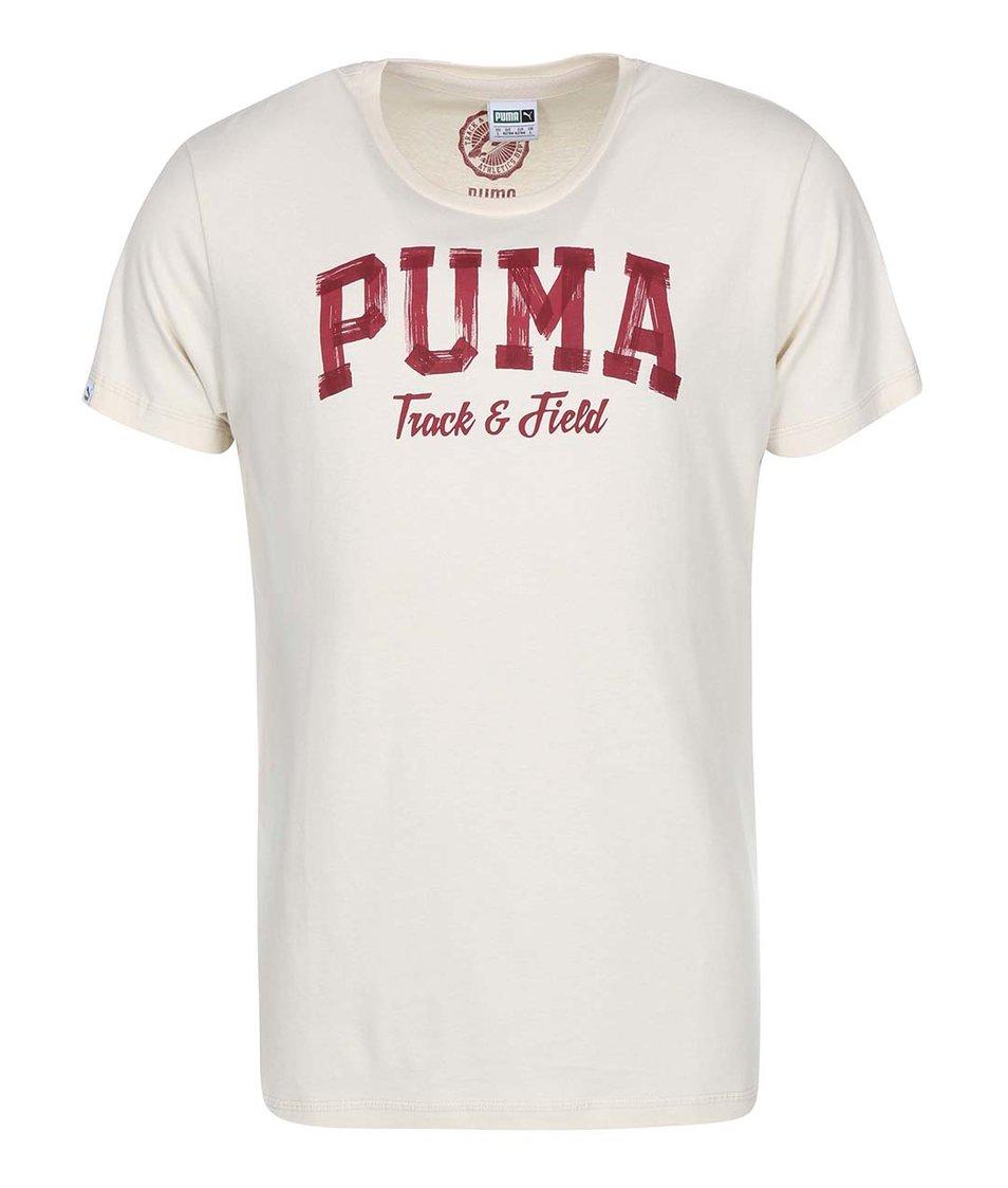 Krémové pánské triko Puma Varsity Graphic
