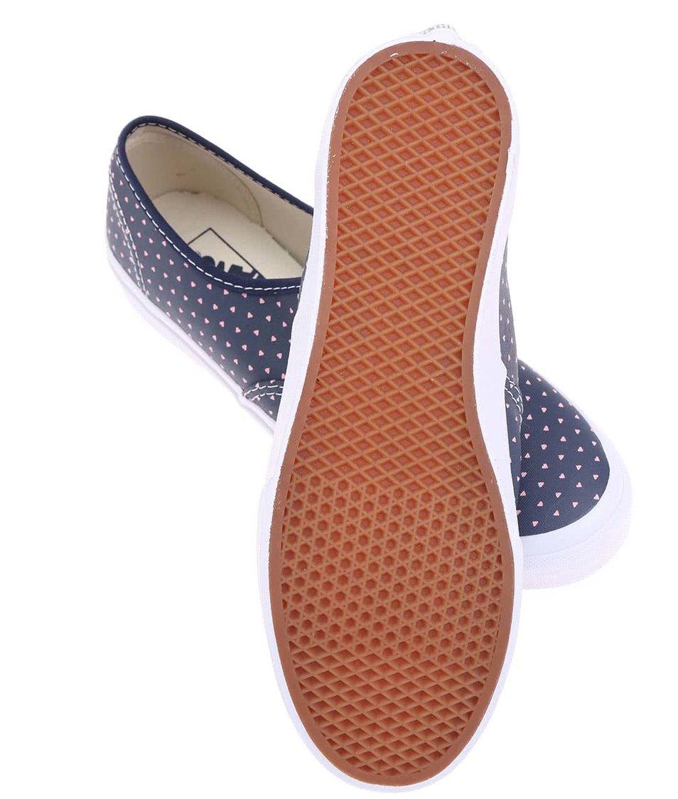 Modré dámské tenisky se srdíčky Vans Authentic