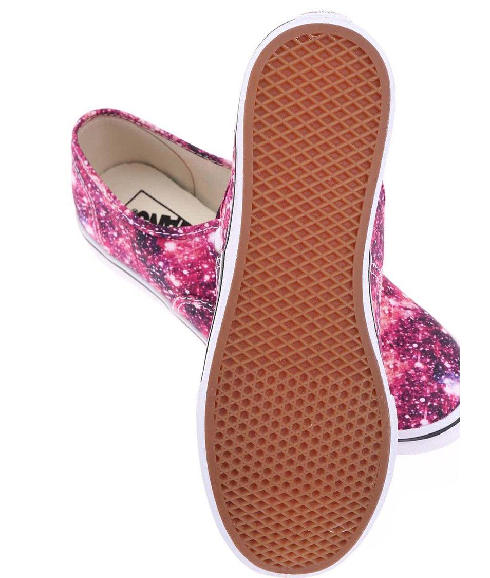 Růžové vesmírné dámské tenisky Vans Authentic Lo Pro - SLEVA ... 34b6b50a7d