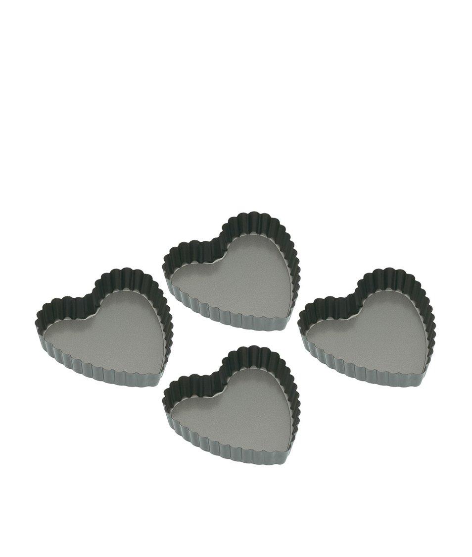 Sada čtyř srdcových formiček na pečení Kitchen Craft
