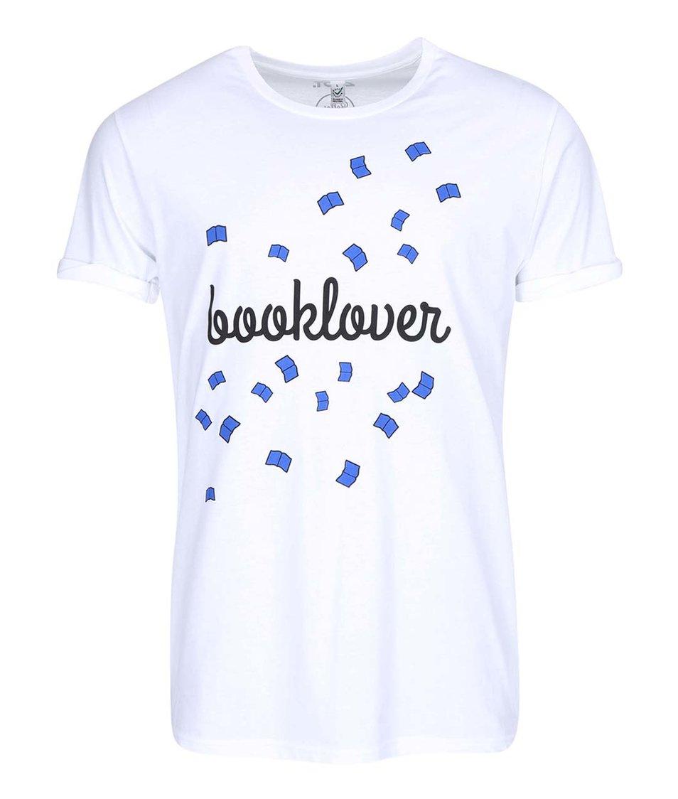 Bílé pánské triko s potiskem Belles Lettres