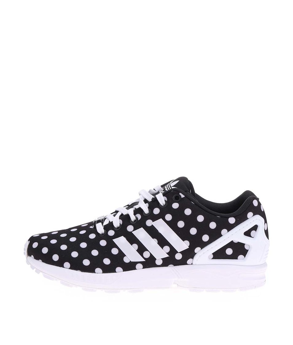 Černé dámské puntíkované tenisky adidas Originals Flux W