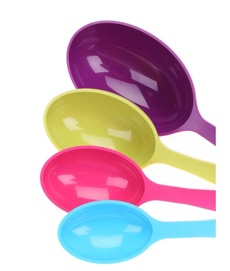 Set čtyř barevných odměrek ve tvaru lžic Kitchen Craft