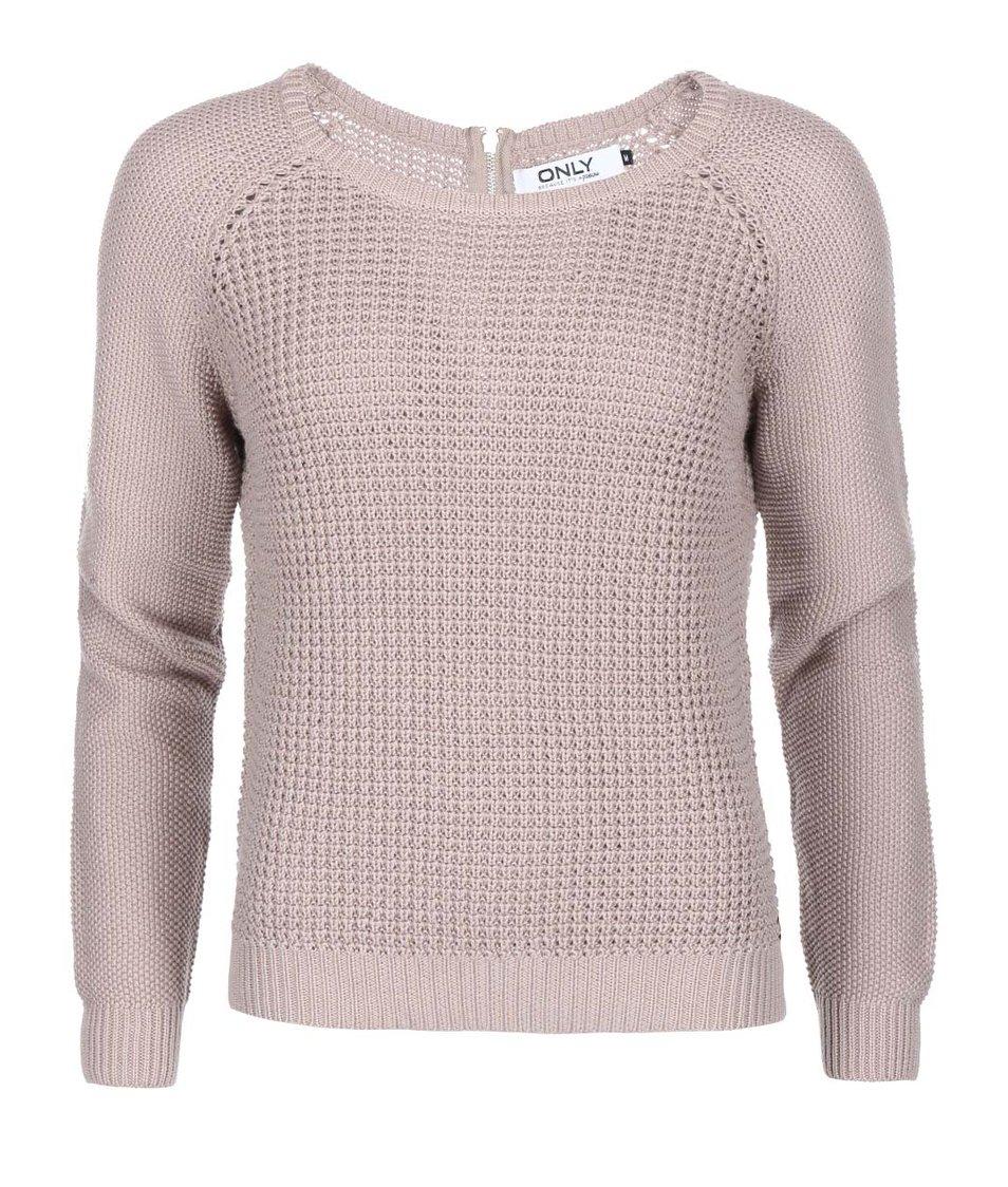 Béžový pletený svetr ONLY Ginalu