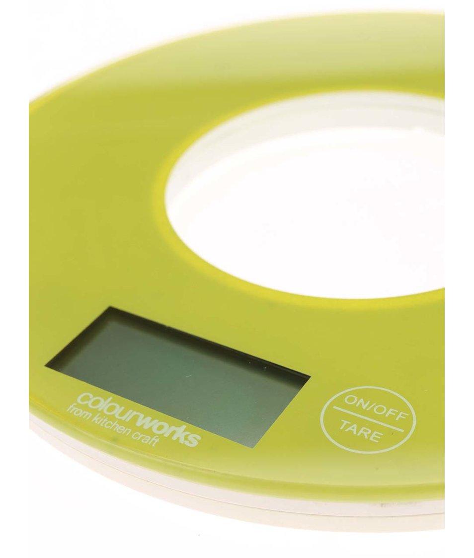 Světle zelená kuchyňská skleněná váha Kitchen Craft