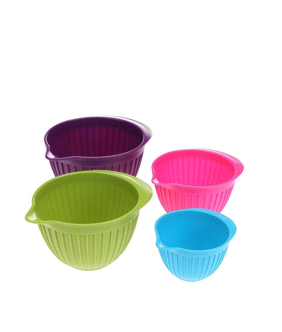 Sada čtyř barevných silikonových misek Kitchen Craft