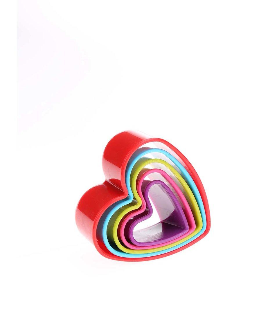 Sada pěti barevných srdcových vykrajovátek Kitchen Craft
