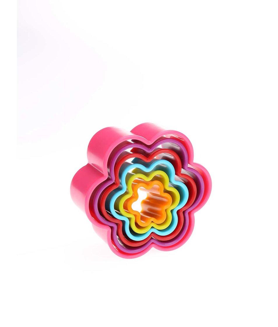 Sada šesti barevných květinových vykrajovátek Kitchen Craft