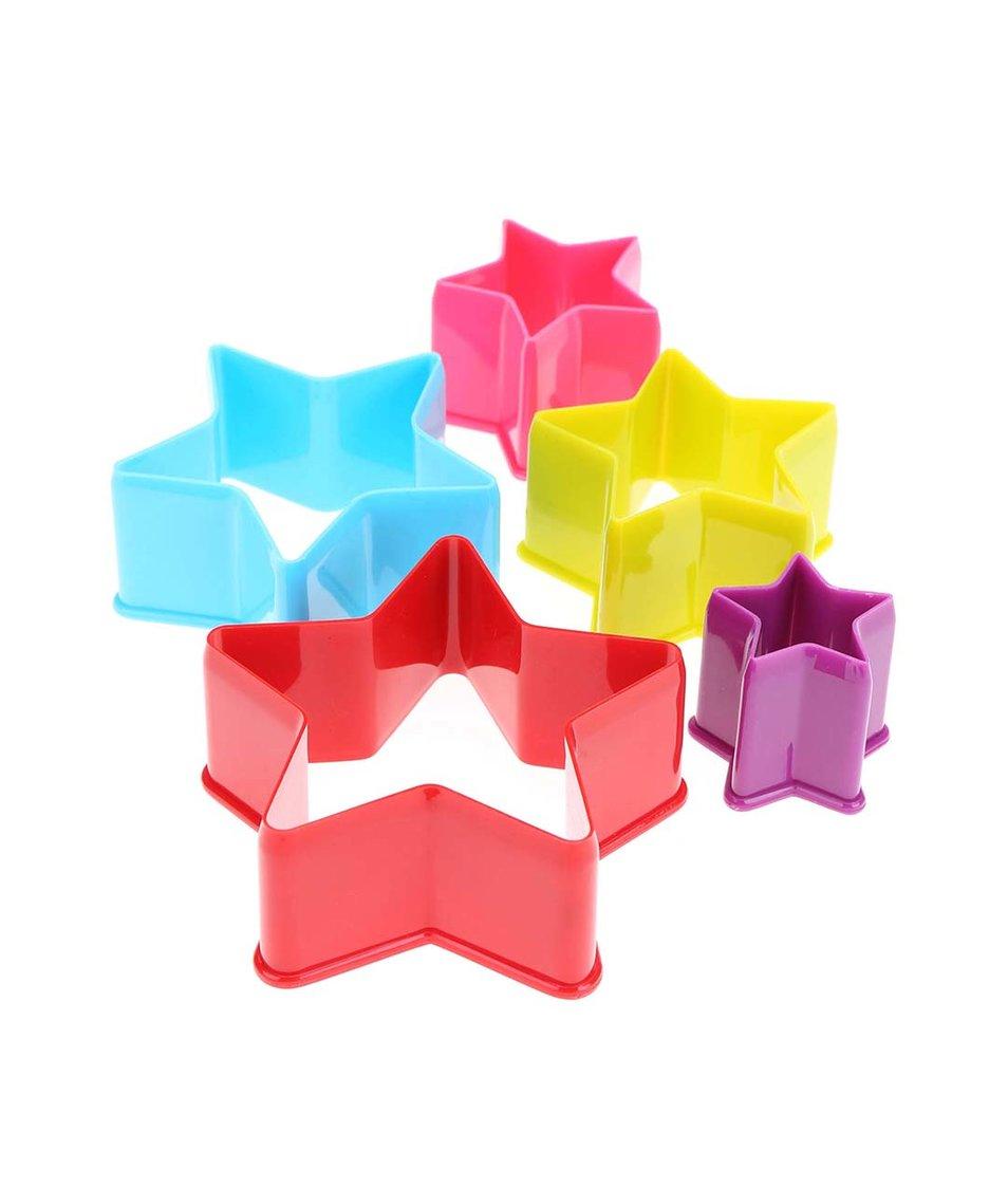 Sada pěti barevných hvězdičkových vykrajovátek Kitchen Craft