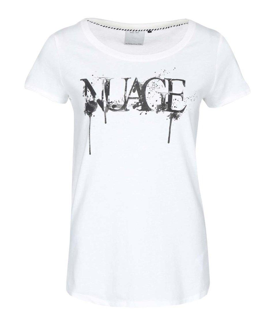Bílé tričko s potiskem ONLY Julia Nuage