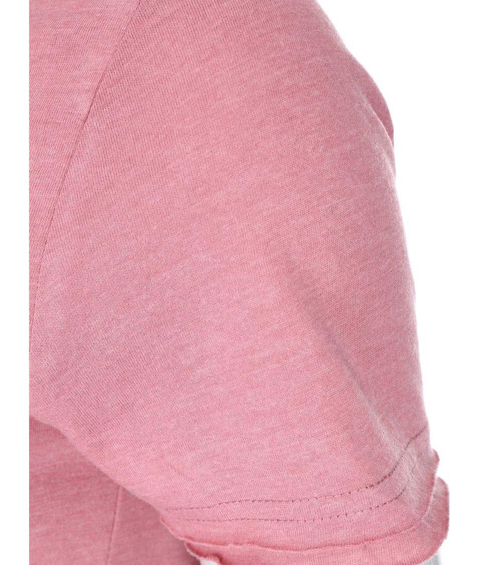 Růžové tričko s potiskem ONLY Julia