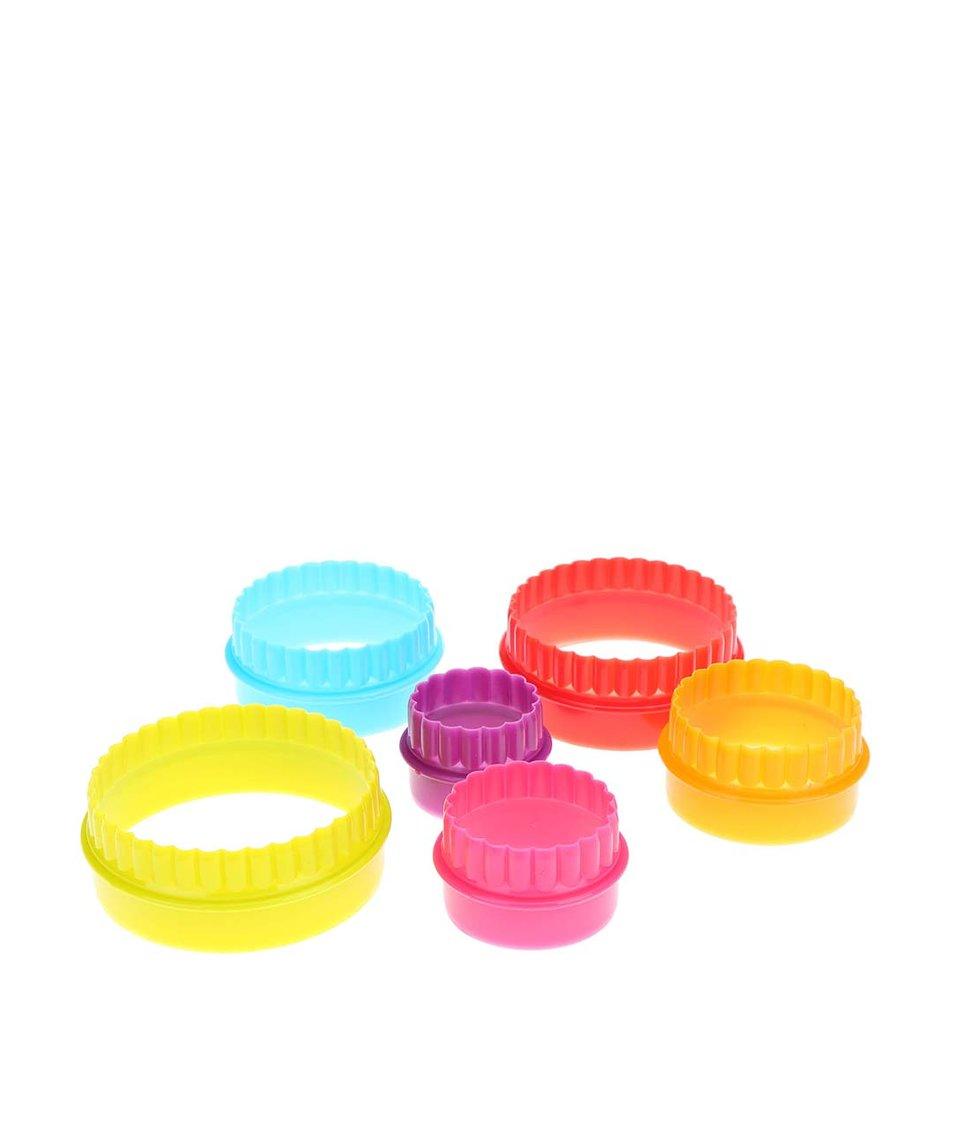 Sada šesti barevných kulatých vykrajovátek Kitchen Craft