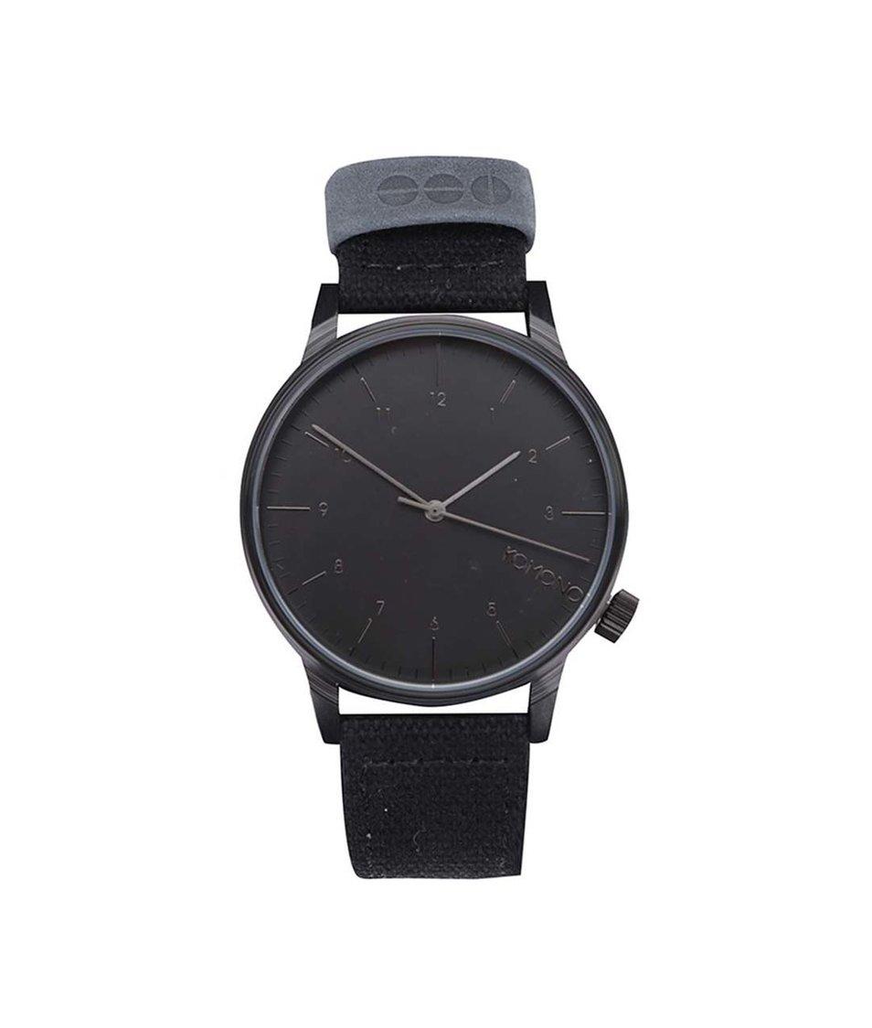 Černé unisex hodinky Komono Winston Heritage