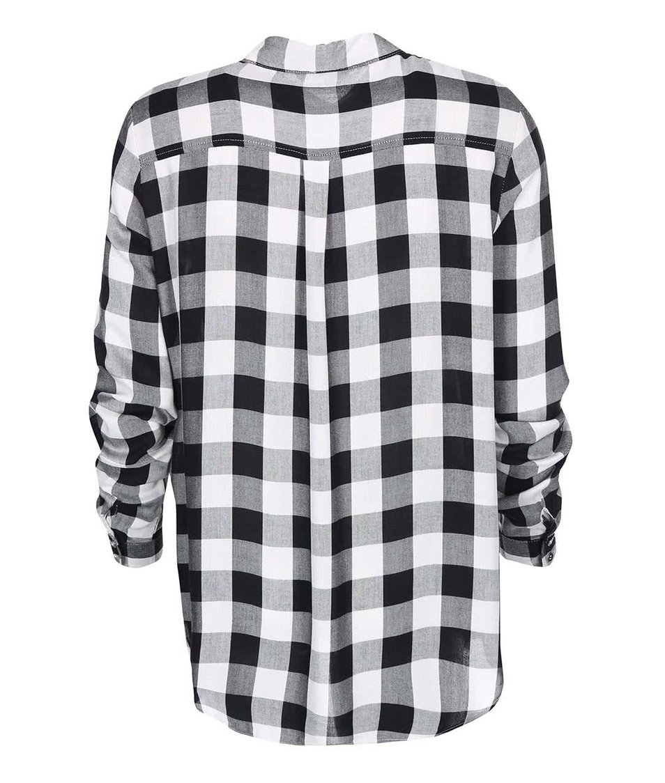Černo-bílá kostkovaná košile ONLY Castagna
