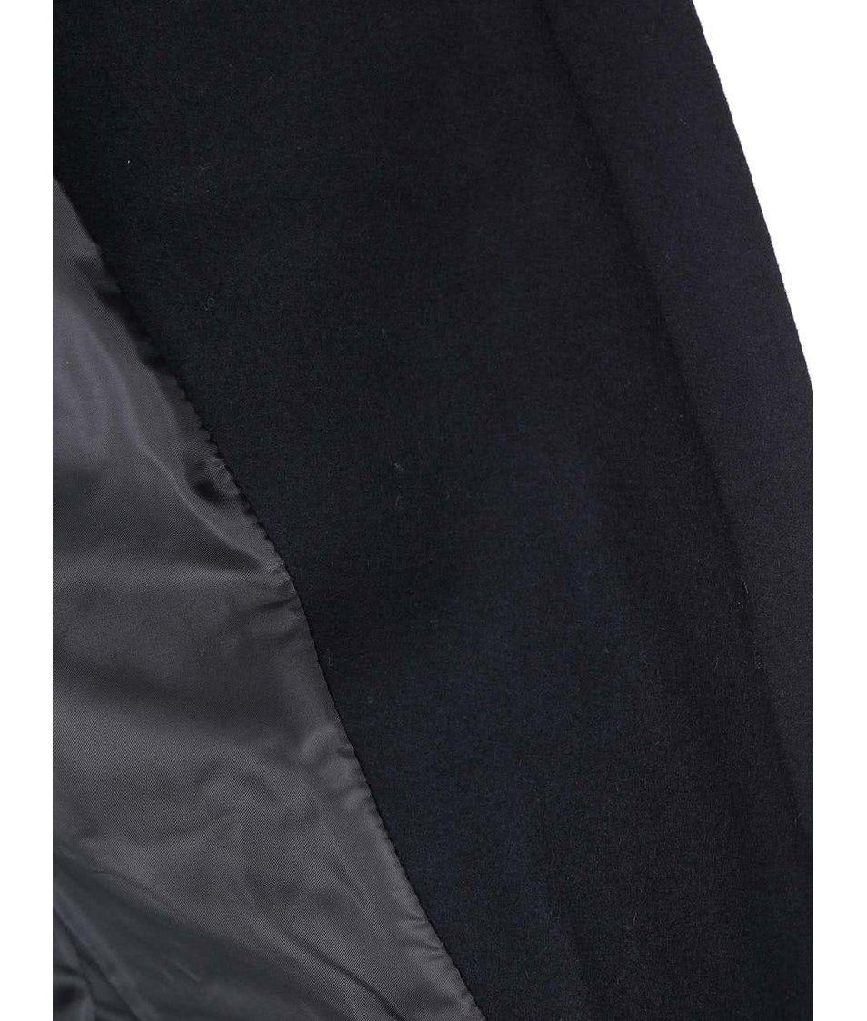Tmavě šedý kabát s kožíškem ONLY Jenny