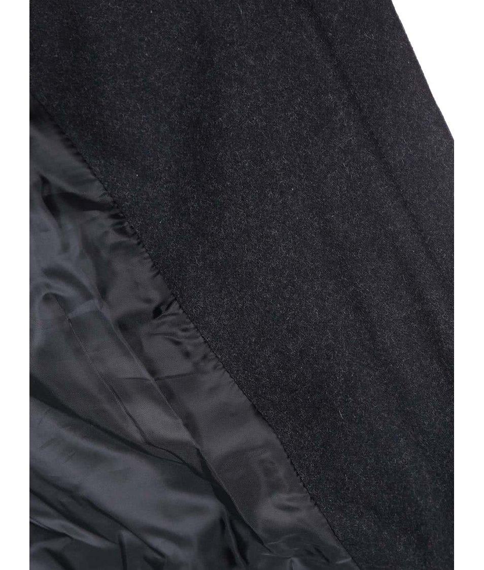 Tmavě modrý kabát s kožíškem ONLY Jenny