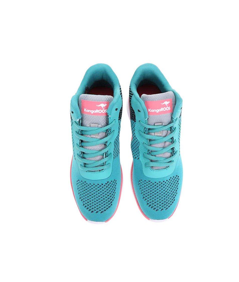 Růžovo-tyrkysové dámské tenisky KangaROOS K-Light