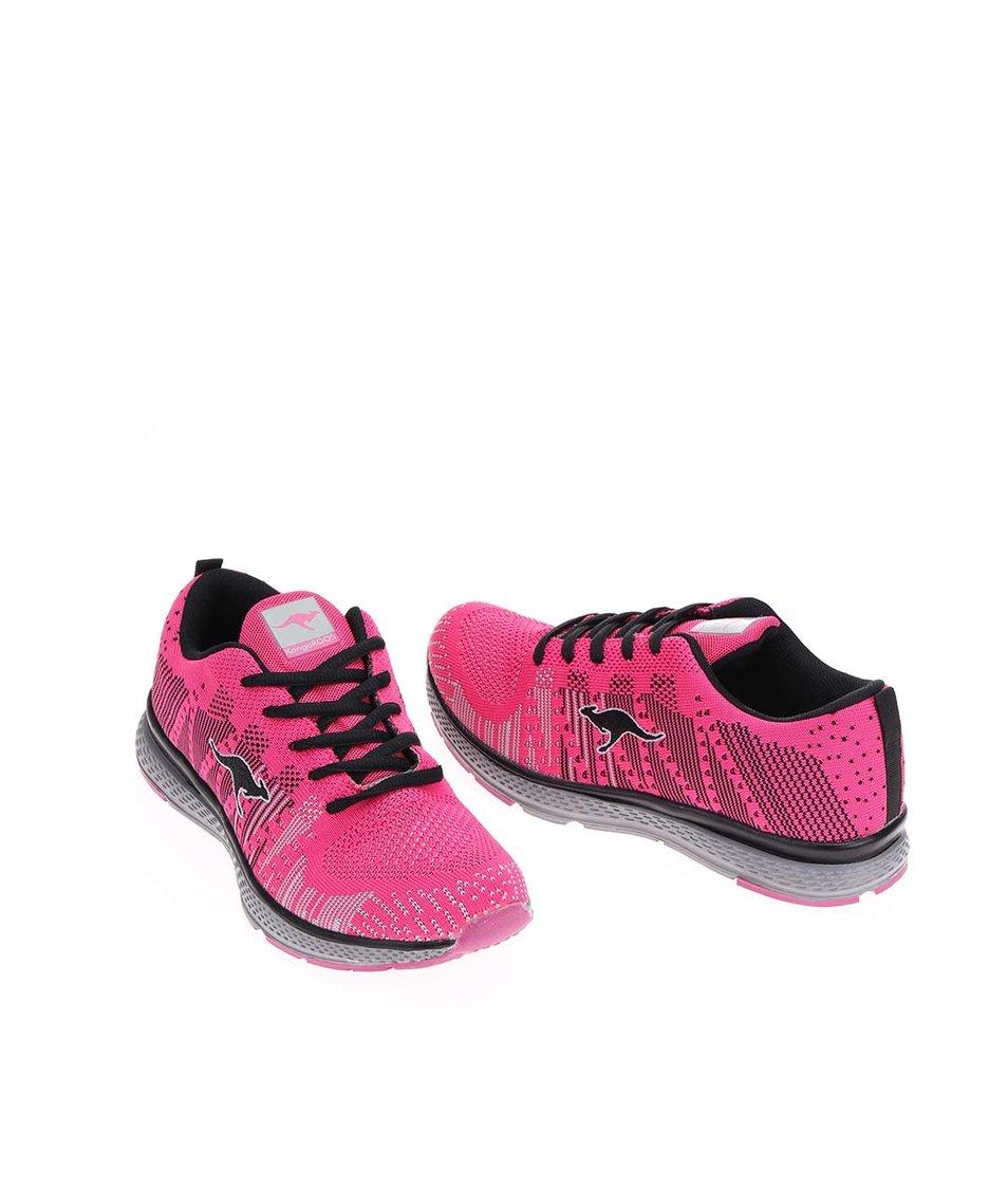 Růžové dámské vzorované tenisky KangaROOS K-Nit