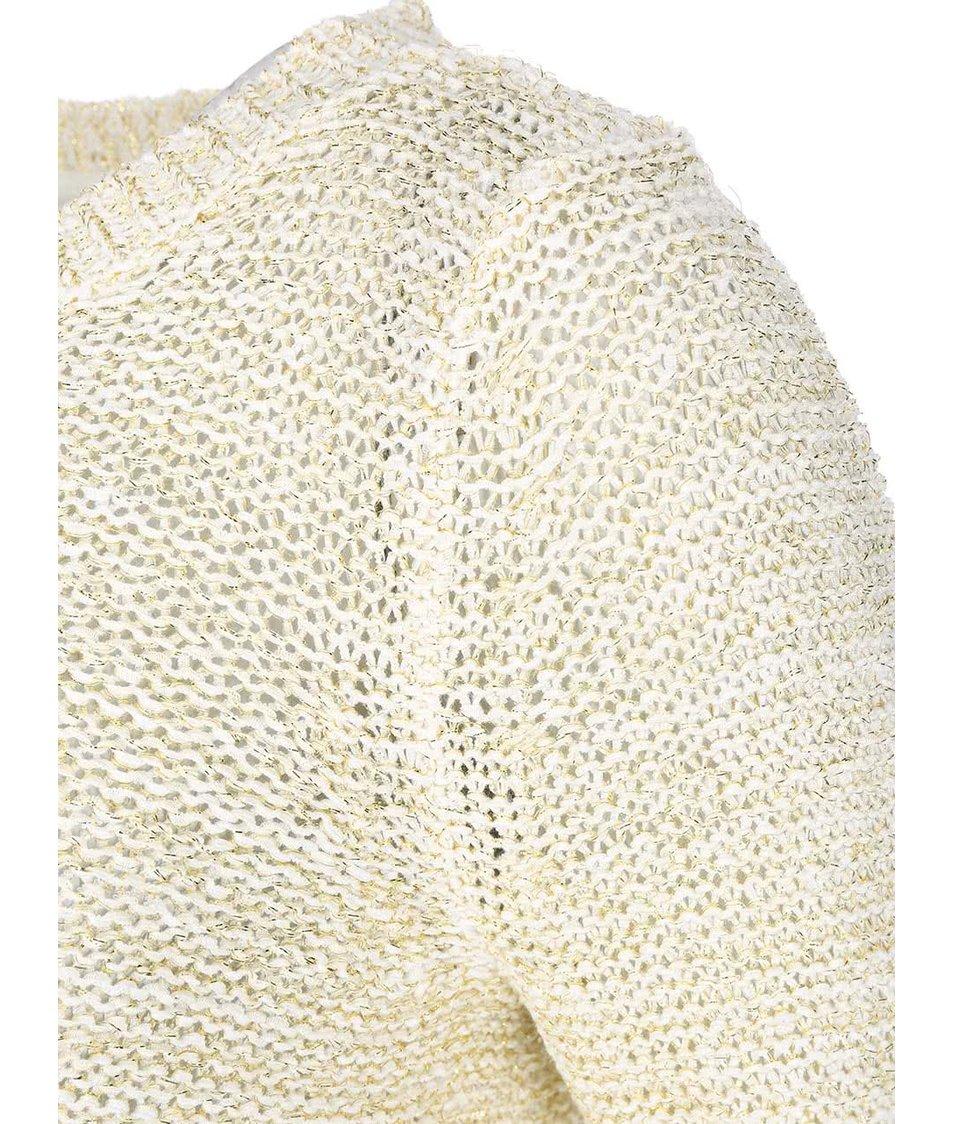Krémový svetr se zlatým prošíváním ONLY Geeny