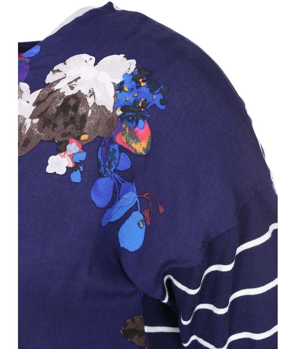 Tmavě modrý dámský top s květy Tom Joule Bee