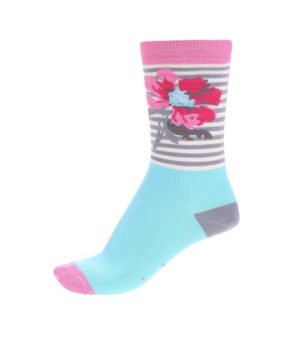 Sada tří dámských květovaných ponožek Tom Joule Brill