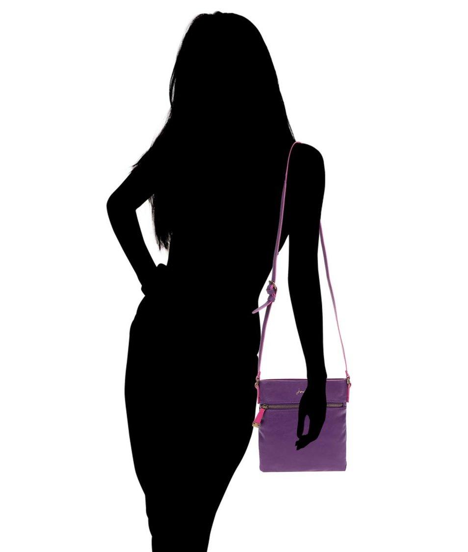 Tmavě fialová kabelka přes rameno Tom Joule Camden