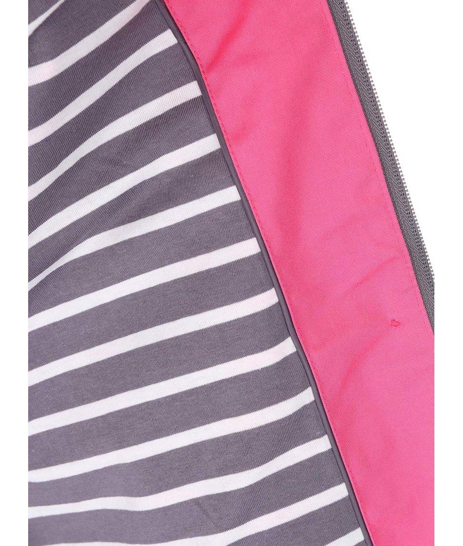Růžová dámská nepromokavá bunda s kapucí Tom Joule Coast