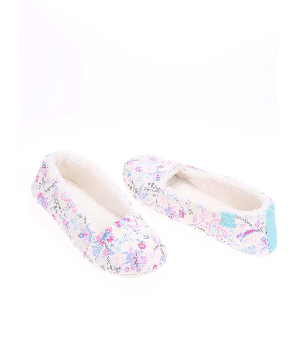 Krémové papuče s květy Tom Joule Dreama