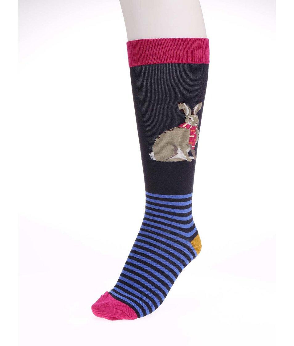 Tmavě modré dámské bambusové ponožky s králíkem Tom Joule Felicity
