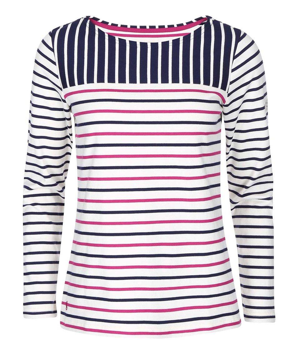 Krémové dámské tričko s růžovo-modrými pruhy Tom Joule Harbour