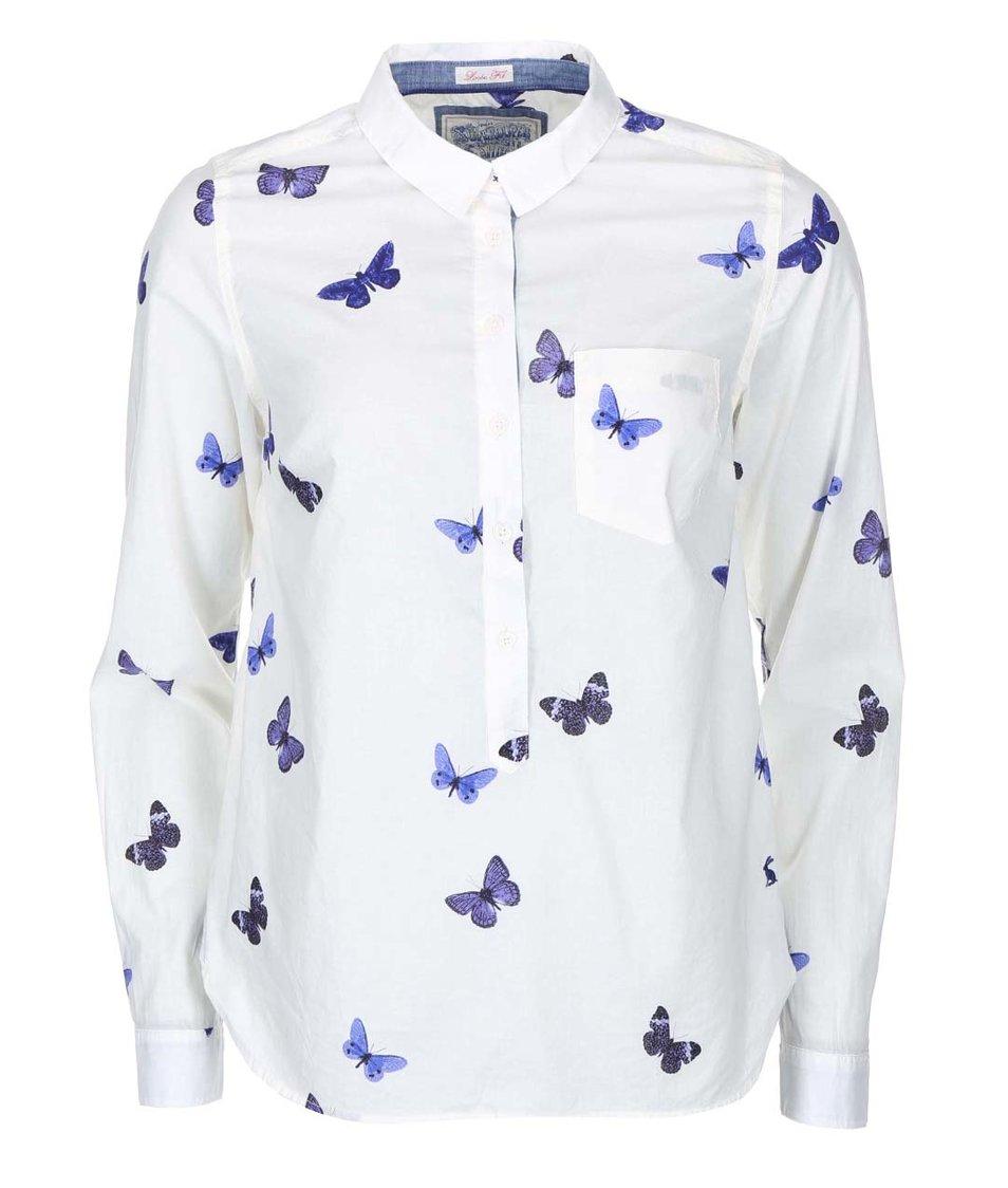 Bílá dámská halenka s motýlky Tom Joule Charlotte