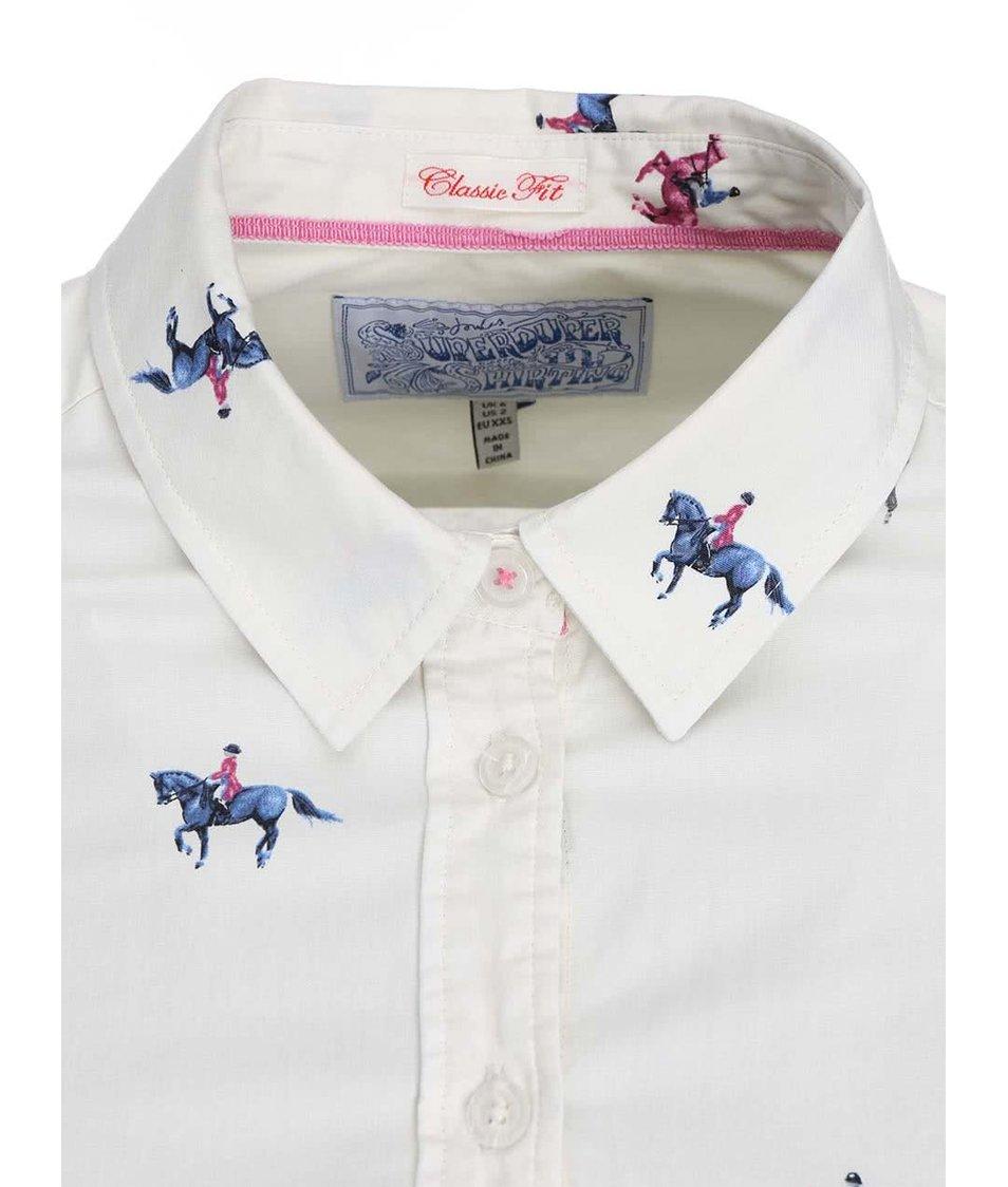 Krémová dámská košile s potiskem koní Tom Joule Kingston