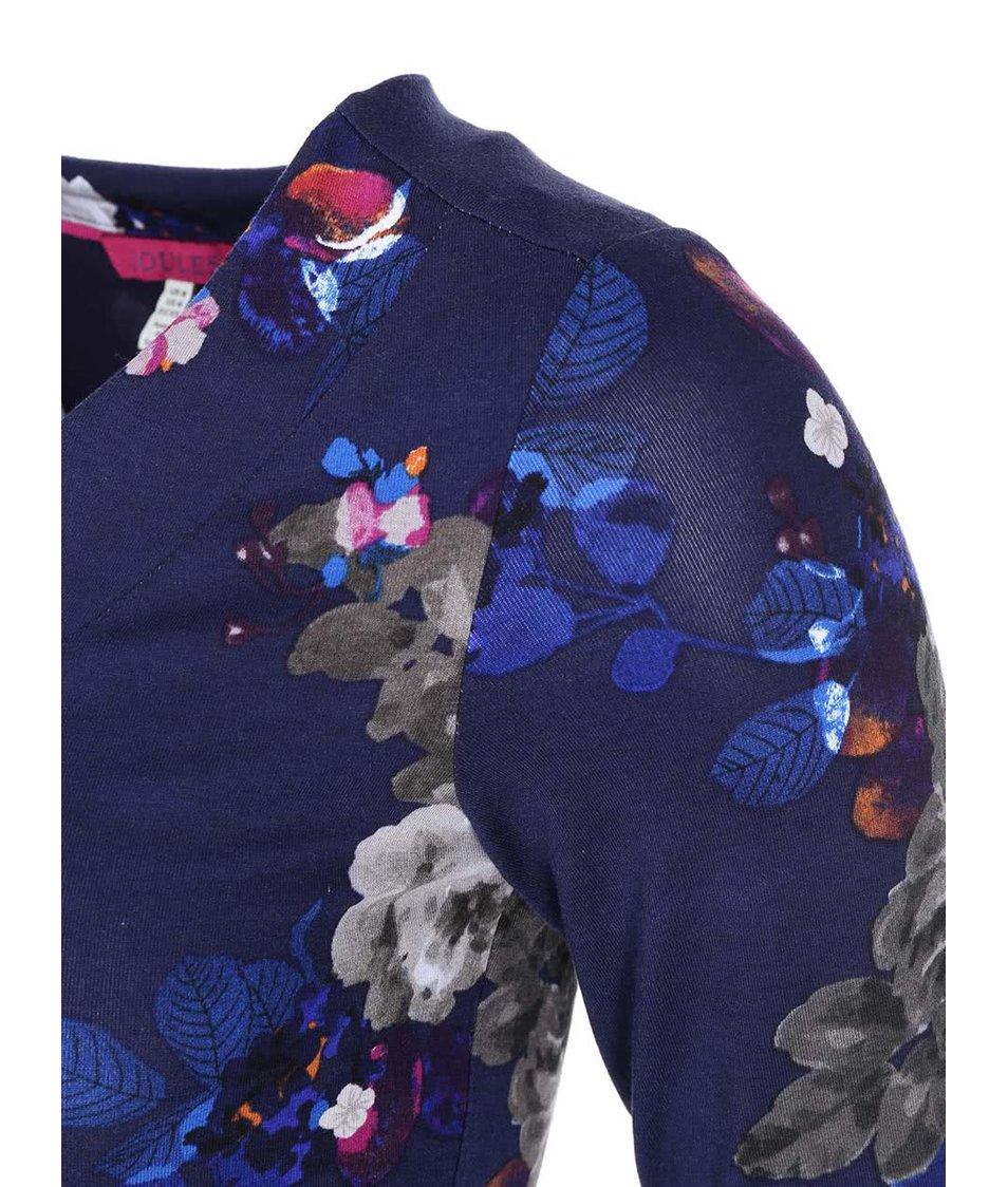 Tmavě modrá tunika s květy Tom Joule Lizzie