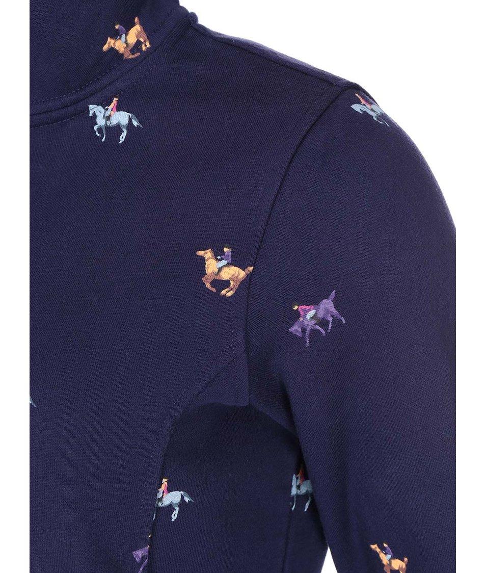 Tmavě modrá dámská mikina s potiskem koní Tom Joule Peachy