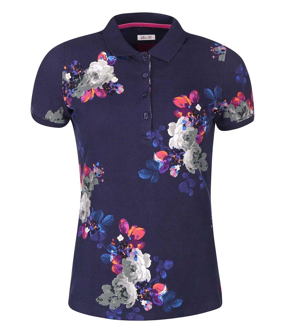 Tmavě modré dámské polo tričko s květy Tom Joule Trinity