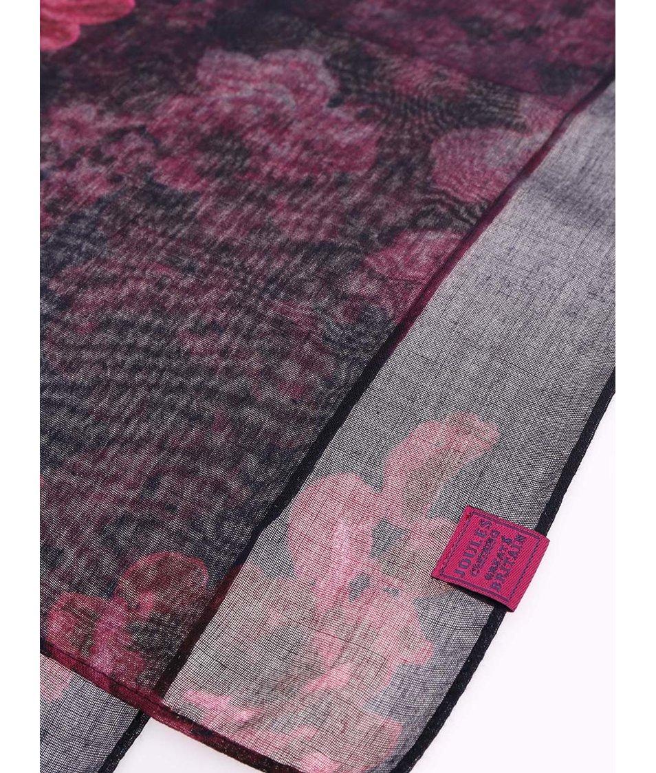 Tmavě modrý květovaný šátek Tom Joule Wensley