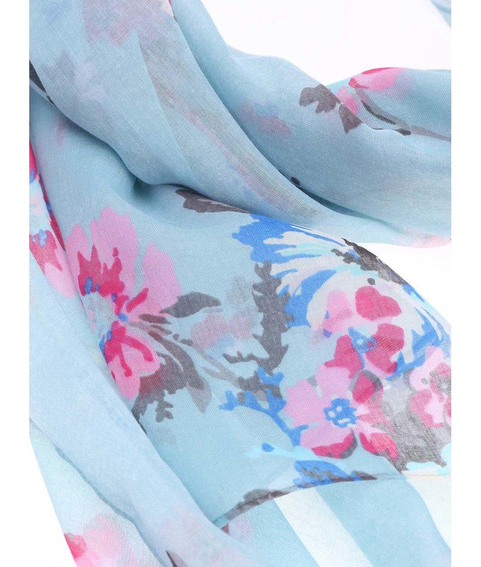 Světle modrý květovaný šátek Tom Joule Wensley