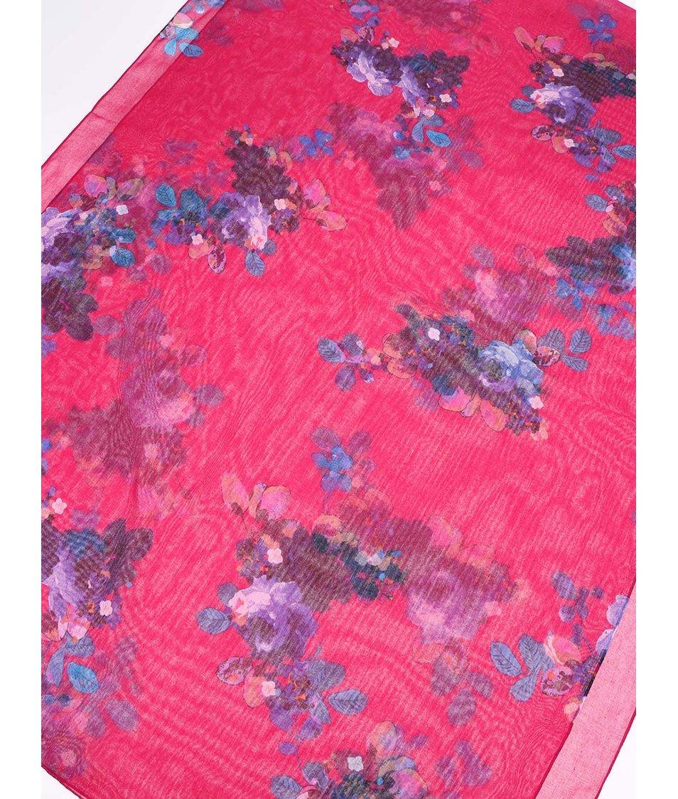 Růžový květovaný šátek Tom Joule Wensley