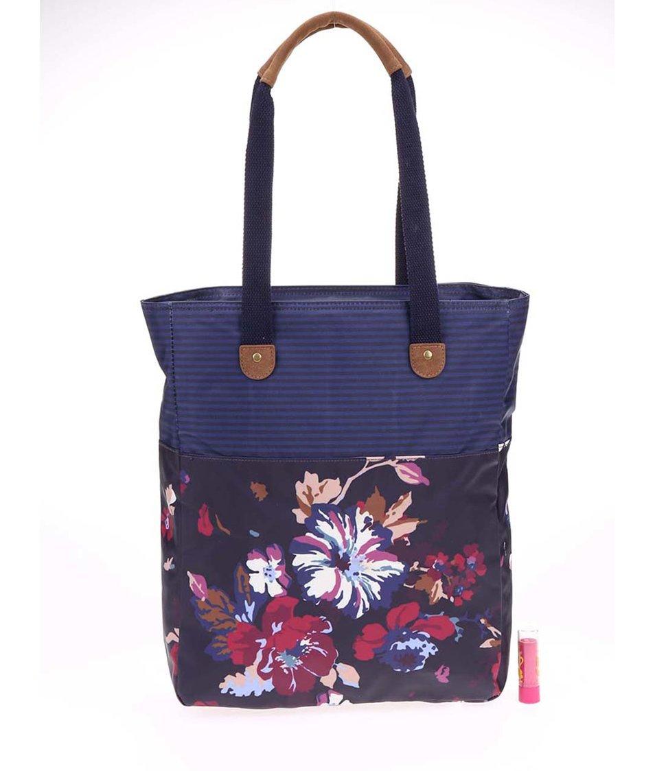 Tmavě modrá dámská taška s květy Tom Joule Homerton
